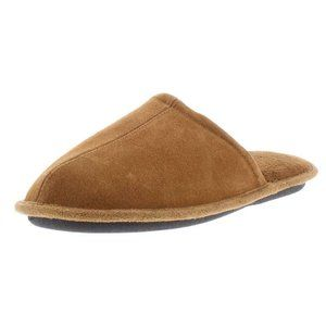 Gold Toe Suede Leather Scuff Slippers Medium 8-9